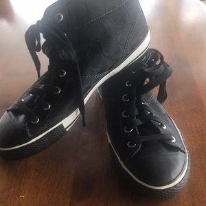 Coach high top black sneakers